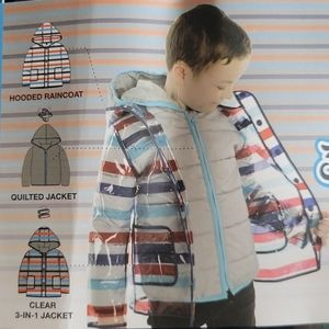 NWT  kids 3 in 1 jacket/raincoat